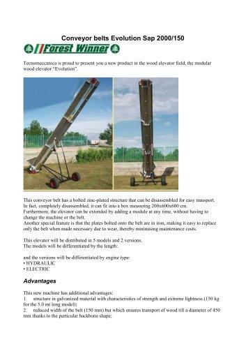 Conveyor belts Evolution Sap 2000/150