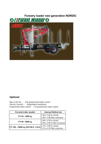 Forestry loader new generation NORDIC