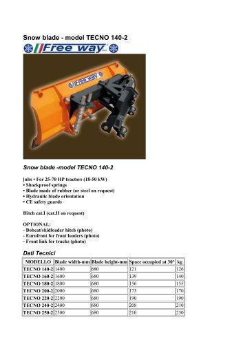 Snow blade - model TECNO 140-2
