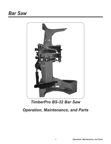 Bar Saw Parts and Ops
