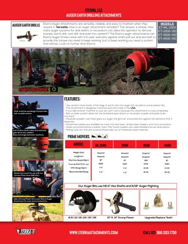 AUGER EARTH DRILLING ATTACHMENTS