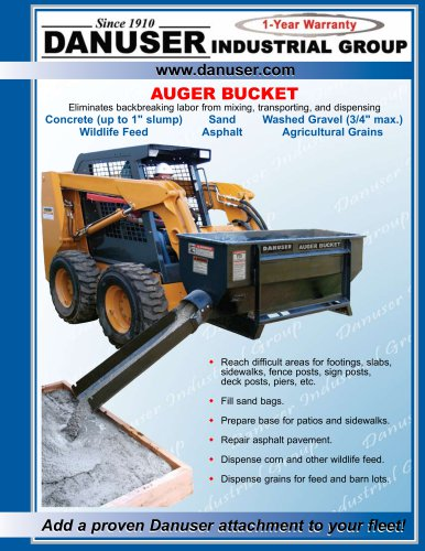 Auger Buckets Brochure