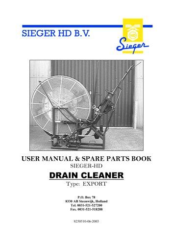 Drain Cleaner Export User Manual 2003