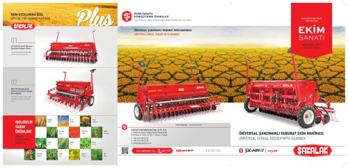 UNIVERSAL CEREAL SEEDER WITH GEARBOX