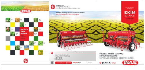 UNIVERSAL COMBINE CEREAL SEEDER WITH GEARBOX