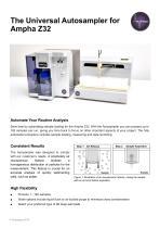 Autosampler for Ampha Z32 Pollen Analyzer