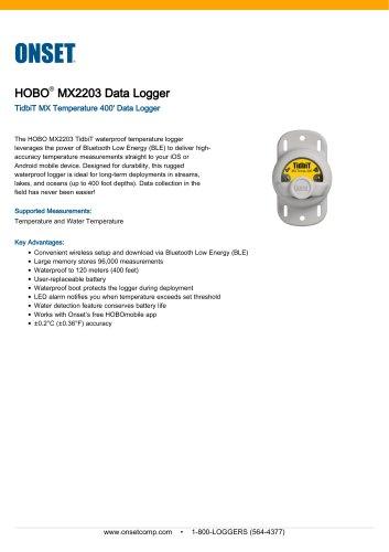 HOBO®  MX2203 Data Logger