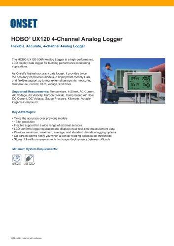 HOBO®  UX120 4-Channel Analog Logger