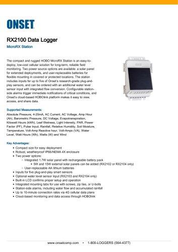 RX2100 Data Logger