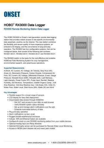 RX3000 Data Logger