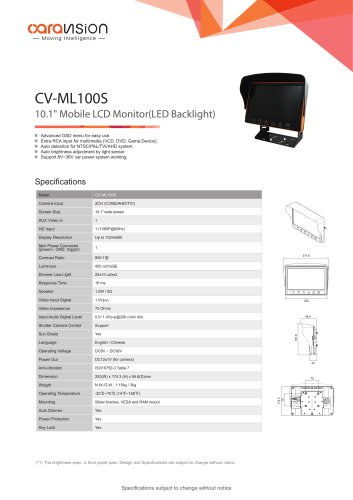 CV-ML100S Mobile Monitor