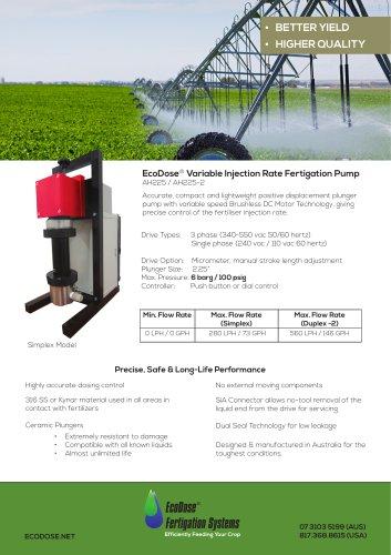 EcoDose AH225 2 Fertigation-Pump