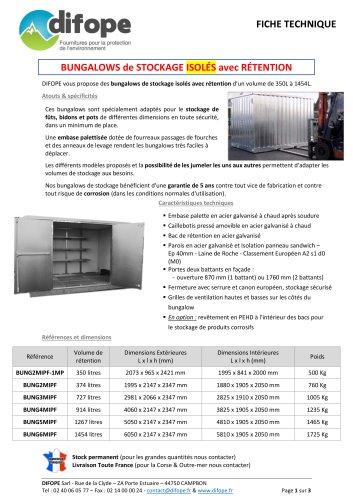 Range of storage bungalows - DIFOPE