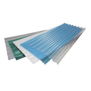 placa de cobertura em poliéster / para galpão agrícola / para estufa / ondulada