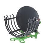 agrupadora-atadeira montada em trator